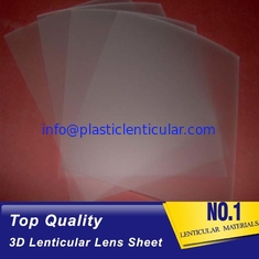 China PLASTIC LENTICULAR 100 lpi 3d PP lenticular sheet supplier blanks thin 3d flip plastic lenticular film PP 3d lens supplier
