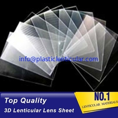 China Promotional Price UV Curing Process Lenticular 100 LPI Resin PET Lens Plastic Flip 3D Lenticular Sheet factory Canada supplier