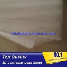 China Wholesale 100 lpi 3d lenticular lens sheet PP PET Lenticular Material Plastic Lenticular Sheet For 3D Printing supplier
