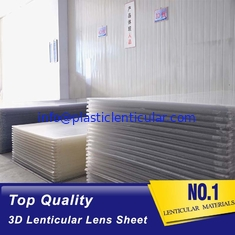 China PLASTIC LENTICULAR 25lpi PS lenticular board 3d lenticular lens sheet for 3d lenticular printing products supplier