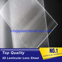 China PLASTIC LENTICULAR Plastic PS/PET Material 100 Lpi 3D Film Lenticular Lens Sheet Matericals With High Transparency supplier