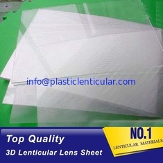 China PLASTIC LENTICULAR 50 lpi lenticular lens 0.58mm thickness plastic lenticular printing sheet for offset printing supplier