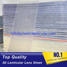 China PLASTIC LENTICULAR 3D 20 LPI UV large format lenticular sheet 3MM designed for 3D lenticular images on digital printer supplier