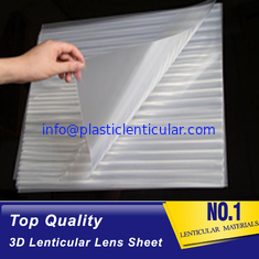 China PLASTIC LENTICULAR blank 3d lenticular lens sheet 100 Lpi Transparent PET Lenticular Film for Advertisement And Packing supplier