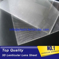 China PLASTICLENTICULAR 16 lpi plastic lenticular lens sheet matericals 6mm 3d lenticular plastic lenses supplier