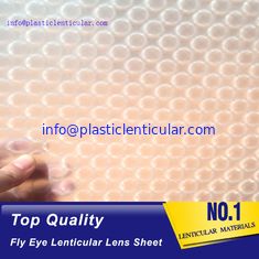 China PLASTICLENTICULAR fly eye 3d lenticular lens sheet materical with 3d effect and 360 degrees supplier