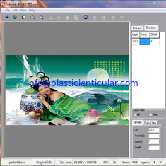 China PLASTIC LENTICULAR 3d image software uv inkjet printer lenticular photo design software supplier