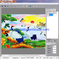 China PLASTICLENTICULAR 3d flip lenticular printing software 2d to 3d design converter supplier