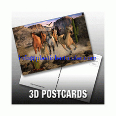 China PLASTICLENTICULAR custom 3d printed business photography cards PP PET lenticular postcards supplier