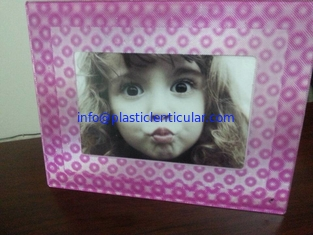 China PLASTICLENTICULAR fly-eye lens 3d photo frame 360 3d fly eye photo frames for home decor supplier