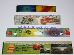 China PLASTICLENTICULAR flip lenticular printing 3D cartoon color plastic ruler for kids/back to school stationery rulers supplier