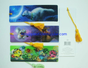 China PLASTIC LENTICULAR authorized 3D printing Flip Effect fancy lenticular bookmark made in China supplier