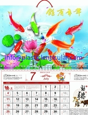China PLASTICLENTICULAR customized 3d lenticular desk pad calendar pp 3D Printing Lenticular Ocean Animal Calendars supplier