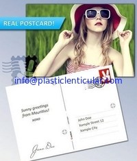 China PLASTICLENTICULAR 3d changing motion lenticular effect postcard lenticular printing supplier