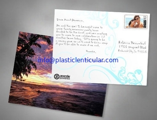 China PLASTICLENTICULAR 3D postcards plant flip effect lenticular postcards 3 views changing postcards prints supplier