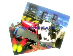 China PLASTIC LENTICULAR PET PP material 3D lenticular business card with dynamic image supplier