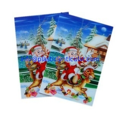 China PLASTICLENTICULAR 3d kid toy PP PET flip lenticular sheet printing snowman greeting card supplier