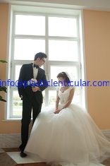 China PLASTIC LENTICULAR high quality 3d lenticular printing wedding photos with pet lenticular material supplier