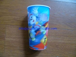 China PLASTIC LENTICULAR OEM Children Style Cartoon Drinking PP 3D Lenticular Cup printing factory supplier