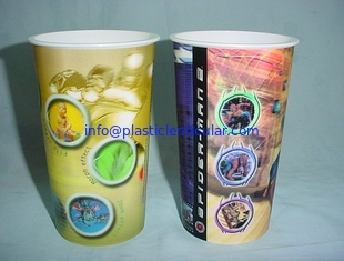 China PLASTIC LENTICULAR OEM 3D Lenticular PP plastic cup communion cup with 3d flip moving changing effect supplier