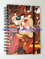 China PLASTIC LENTICULAR flip printed spiral school lenticular 3d notebook cover printing supplier
