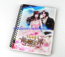 China PLASTIC LENTICULAR Custom Cheap Price 3d flip cover Student Notebook with pp pet lenticular printing cover supplier