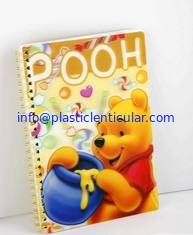 China PLASTIC LENTICULAR 3d lenticular printed school spiral notebook with depth 3d motion moving flip effect supplier