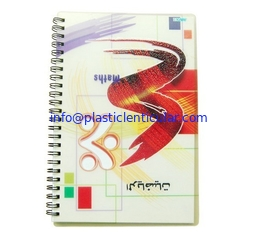 China PLASTIC LENTICULAR wholesale A4/A5/A6 lenticular flip cover 3d notebook with spiral wire lenticular cover notebook supplier