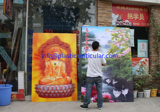 China PLASTICLENTICULAR Promotion flip 3D Religious Pictures Lenticular Printing supplier