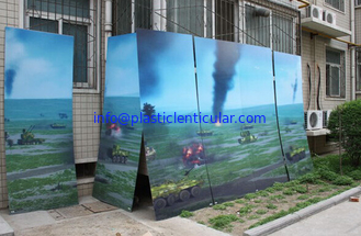 China PLASTIC LENTICULAR large size 3d poster large format lenticular advertising poster 3d flip printing supplier