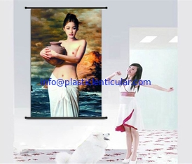 China PLASTICLENTICULAR lady portrait painting 3d moving portrait photo with plastic lenticular material supplier