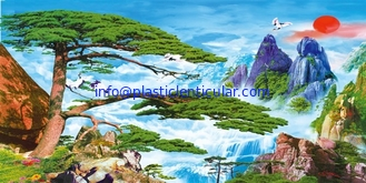 China PLASTICLENTICULAR 3d lenticular Clouds landscape paintings wholesale lenticular pet 3d picture Lenticular sheet prints supplier