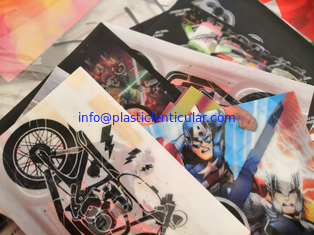 China PLASTIC LENTICULAR 3d flip effect soft pvc 3d lenticular patch soft TPU printing patches with 3d lenticular sheet supplier
