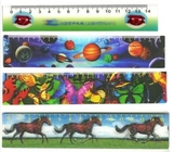 China PLASTIC LENTICULAR Factory animated lenticular flip funny ruler-pet pp pvc soft Lenticular Flip 3D Rulers factory