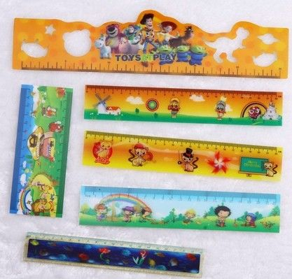 Custom Promotional Plastic Flexible Measuring Ruler With 3D Lenticular