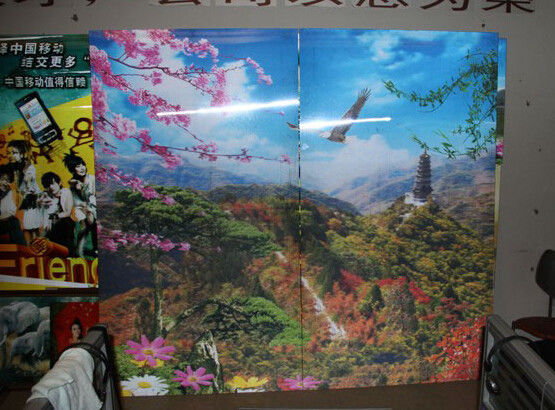 UV flatbed printer or inkjet printer large size 3d poster large format lenticular advertising poster 3d flip printing