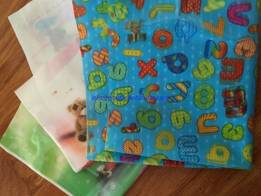 China PLASTIC LENTICULAR 3d color change lenticular fabric printing-rainbow lenticular fabric sheets with pvc tpu factory