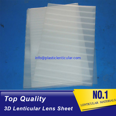 PLASTICLENTICULAR Clear PET 3D Lenticular Lens Sheet Plastic 75 Lpi Platic Film Lenticular Sheet For 3D Images Printing