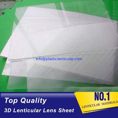 China factory PET lenticular lens sheet 50/70/75/100/160 LPI wholesale price 3d lenticular sheets with clear adhesive