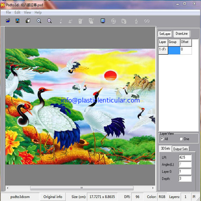 PLASTIC LENTICULAR 3d lenticular lens printing design software for 3d inkjet printer
