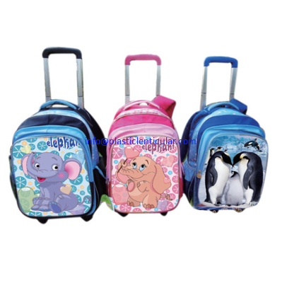PLASTIC LENTICULAR PET 3D Lenticular School Bag Cover Cartoon Image Children Favor Stationery