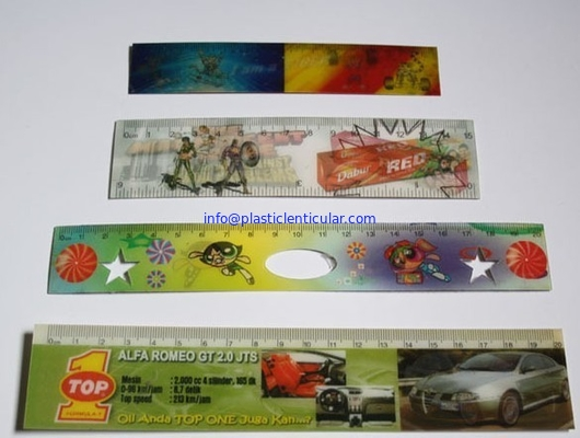 PLASTICLENTICULAR flip lenticular printing 3D cartoon color plastic ruler for kids/back to school stationery rulers