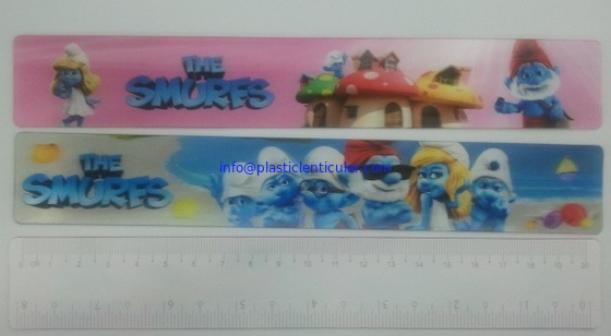 PLASTICLENTICULAR Custom 3d lenticular ruler wholesales-pp pet 3d lenticular measuring ruler for gift