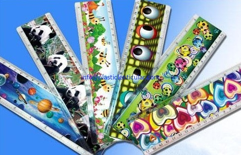 PLASTICLENTICULAR Custom Design Plastic 3D Lenticular Printing rulers pp pet animated 3D lenticular ruler products