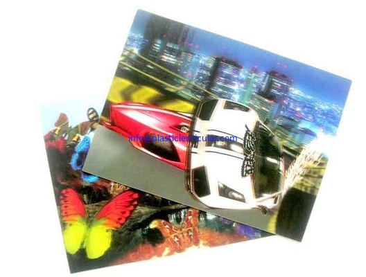 China PLASTIC LENTICULAR PET PP material 3D lenticular business card with dynamic image factory