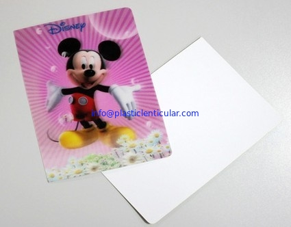 Plastic Product Material 3D Lenticular Lens Gift Cards Flip Animation Lenticular Cards Printing From Australia