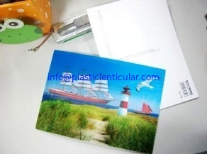 PLASTIC LENTICULAR custom 3d lenticular postcards 3D post card printing flip postcards