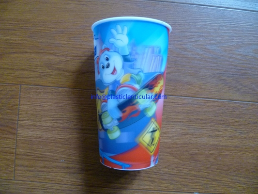 PLASTICLENTICULAR OEM Children Style Cartoon Drinking PP 3D Lenticular Cup printing factory