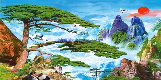 PLASTICLENTICULAR 3d lenticular Clouds landscape paintings wholesale lenticular pet 3d picture Lenticular sheet prints