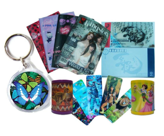 PLASTICLENTICULAR lenticular flip zoom animated morph changing motion design 3d hang tag card for garment shoes bag